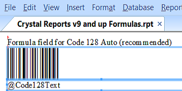 Barcode Font Encoder Formulas for Crystal Reports by IDAutomation