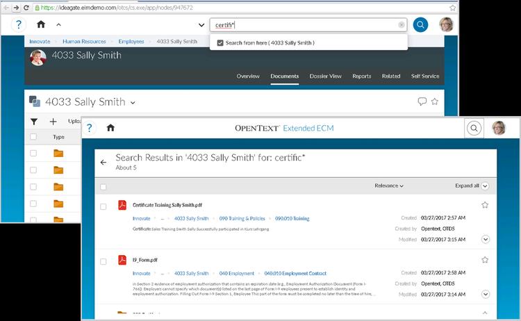 SAP SuccessFactors Extended ECM by OpenText by SAP | SAP App Center