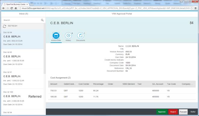 SAP Invoice Management By OpenText By SAP SAP App Center - Open text invoice management