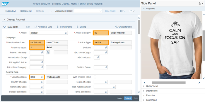 SAP Master Data Governance, Retail and Fashion Management