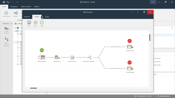 Automate and integrate through drag and drop technology