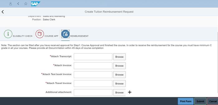 Tuition Reimbursement by Sodales Solutions Inc | SAP App Center