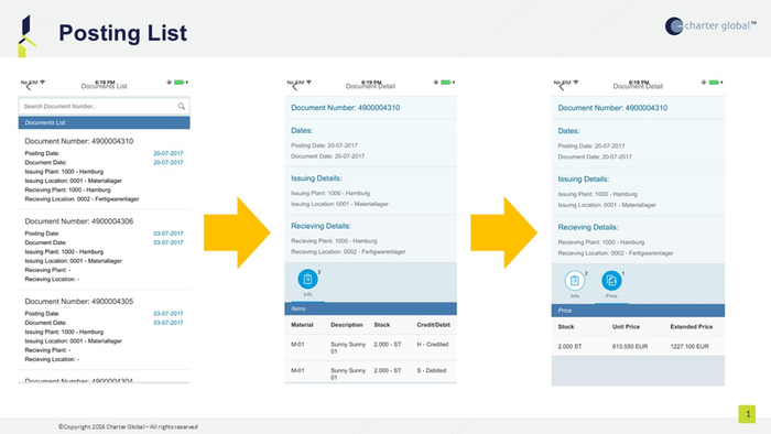 Stock Inventory Transfer by Charter Global | SAP App Center