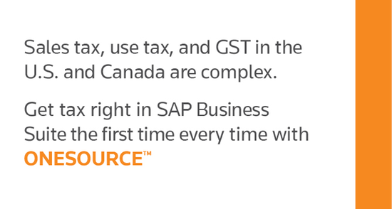 ONESOURCE Determination for SAP Business Suite — U S  and Canada by