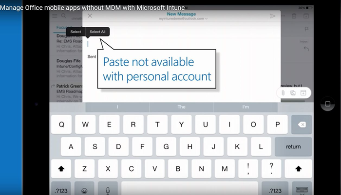 microsoft mobile device management app