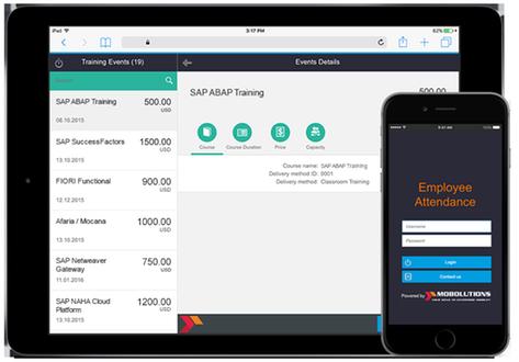 employee attendance app by mobolutions llc sap app center
