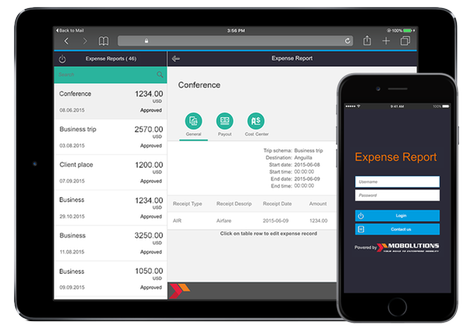 expense report mobile app by mobolutions llc sap app center