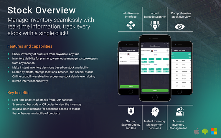 Stock overview App by Mobolutions, LLC   SAP App Center