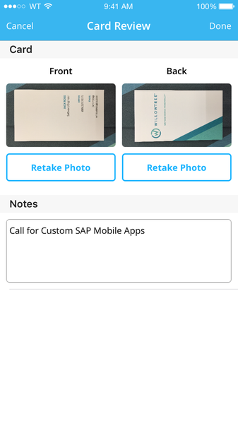 Scanzii business card scanner by willowtree sap app center reheart Image collections