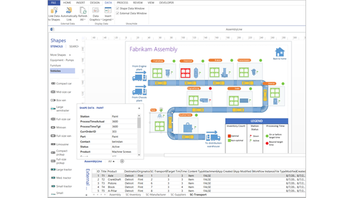 Visio pro for office 365 by microsoft dustin sweden appmarket visualize real time data in the context of an organizational structure it network manufacturing plant or complex business processes to obtain the whole ccuart Images