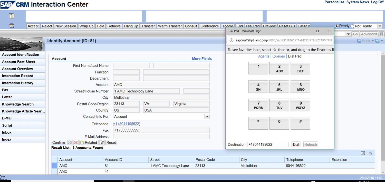 AMC Contact Canvas for SAP Web Client by AMC Technology