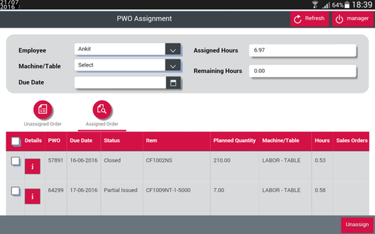 cPOM - Production Order Management