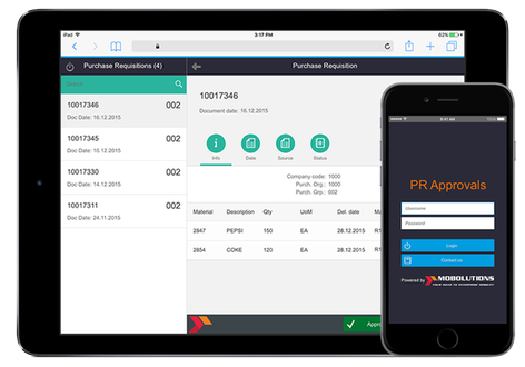 Purchase Requisition Approvals App by Mobolutions, LLC | SAP