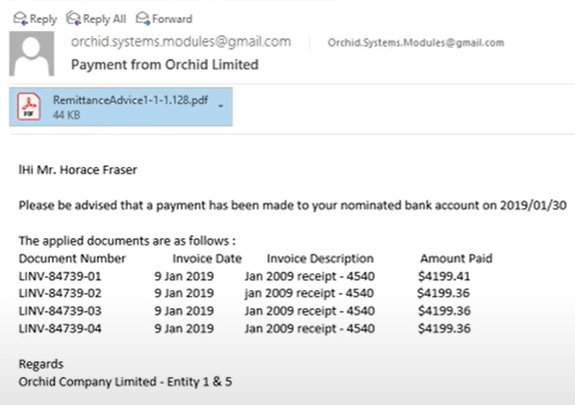 Emailed Remittance Advices