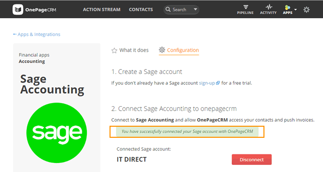 Integrate with Sage Accounting and more apps