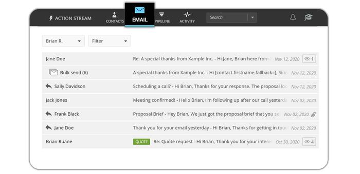Powerful email hub