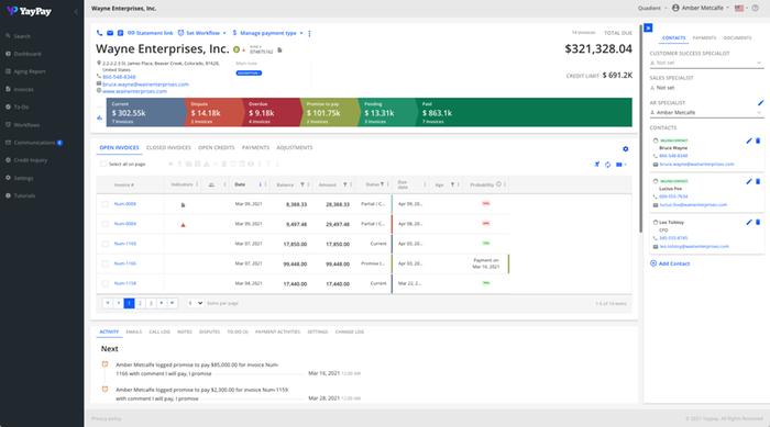 Accounts Receivable Collections Management
