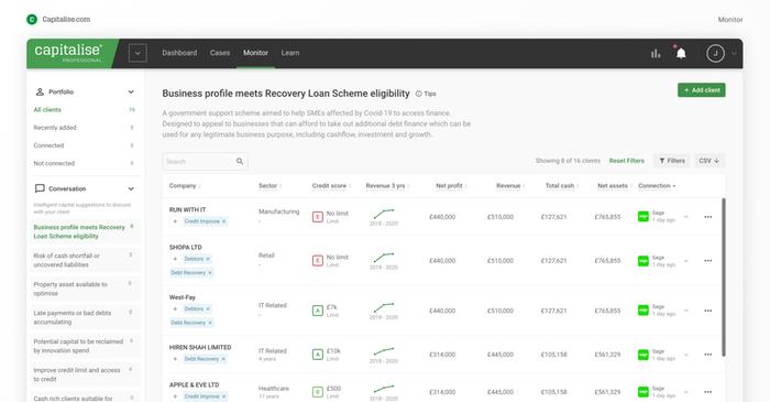 Monitor your client portfolio