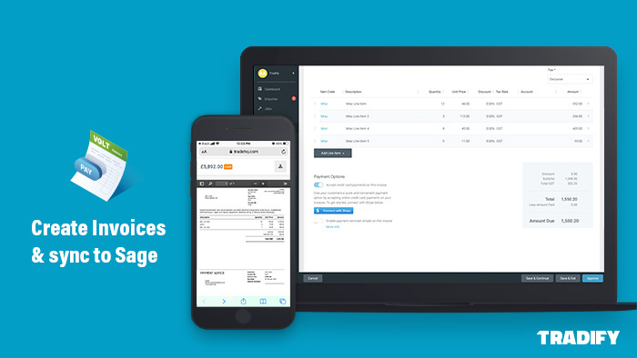 Automatically sync invoices to Sage