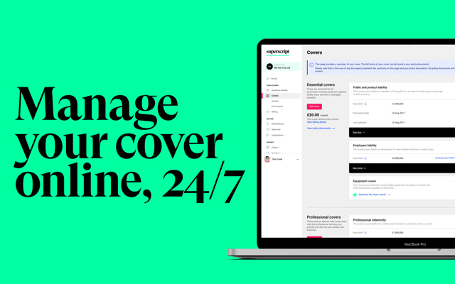 Manage your cover online, 24/7