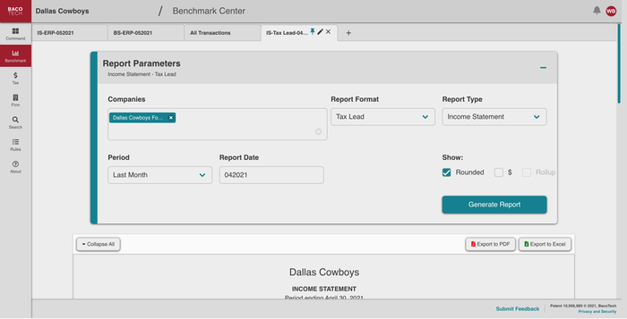 Customizable, real-time reports